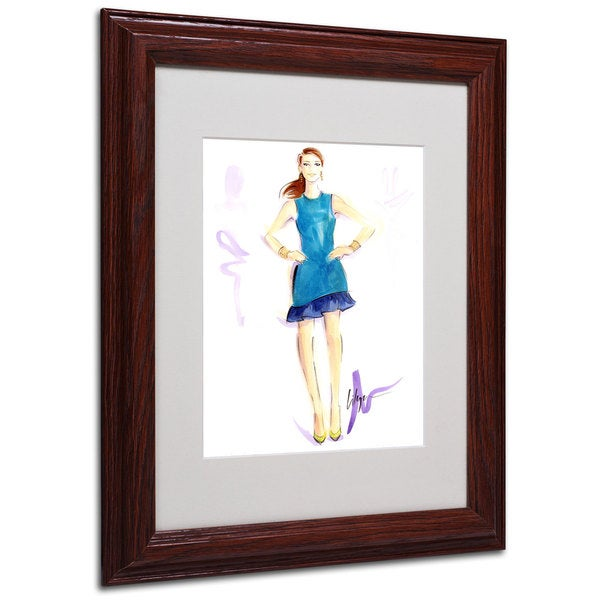 Jennifer Lilya 'Tealing Beauty' White Matte, Wood Framed Wall Art