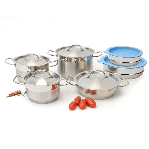 Shop Berghoff Hotel Line 12 Piece Cookware Set With Mixing