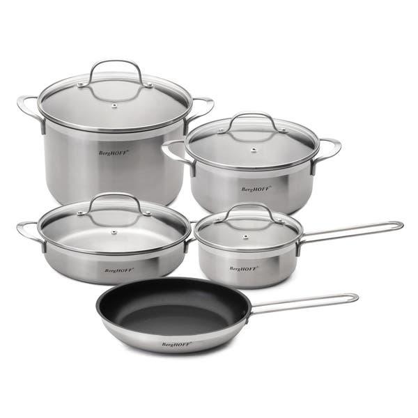 Berghoff Bistro 9 Piece Cookware Set Overstock 10436631