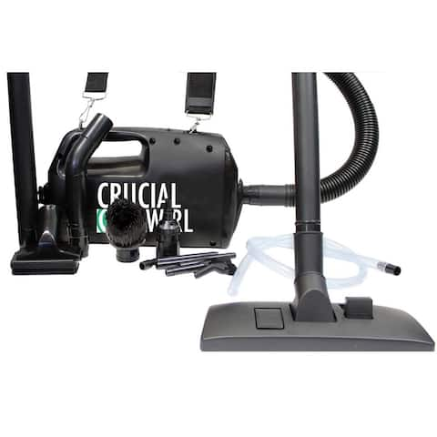 Crucial Swirl Handheld Portable Vacuum Cleaner and Blower Deluxe Cleaning Attachments and Micro Cleaning Set