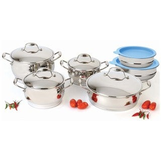 Berghoff Zeno 12-piece Cookware Set with Mixing Bowls