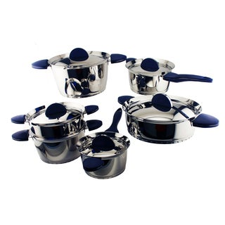 Berghoff Stacca 11-piece Blue Cookware Set