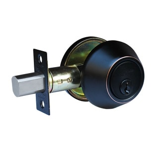 Deadbolt' Oil Rubbed Bronze Deadbolt Door Lock Set with Double Cylinder