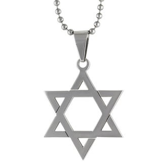 Stainless Steel 45mm Star of David Necklace
