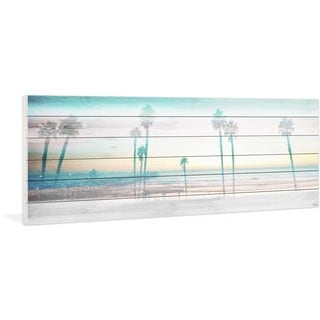 "Parvez Taj - ""Playa in the Dusk"" Print on White Wood"