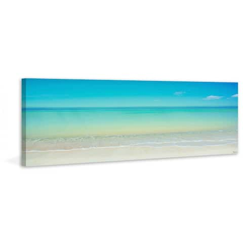 Handmade Parvez Taj - Scenic Beach Print on Canvas