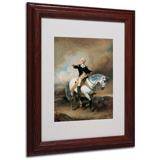 John Faed 'Portrait of George Washington' White Matte, Wood Framed Wall Art