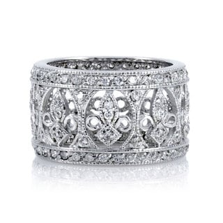 Sterling Silver CZ Antique Ring