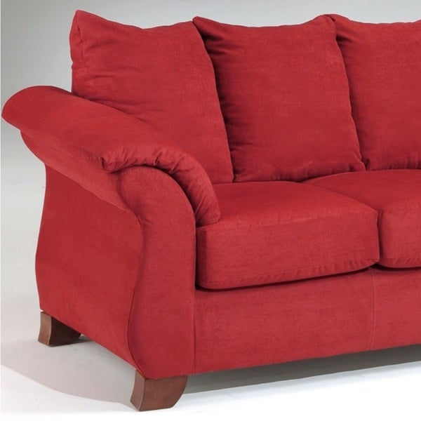 affordable furniture sensations red brick sofa. sensations microfiber pillow back sofa and loveseat set red free shipping today overstockcom 17534218 affordable furniture brick