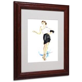 Jennifer Lilya 'Addictive' White Matte, Wood Framed Wall Art