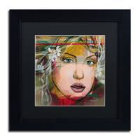 Andrea 'Esmeralda' Black Matte, Black Wood Framed Wall Art