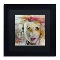 Andrea 'Desire' Black Matte, Black Wood Framed Wall Art