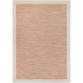 Couristan Tides Riverhead Sienna Red/ Grey Area Rug (6'7 x 9'6)