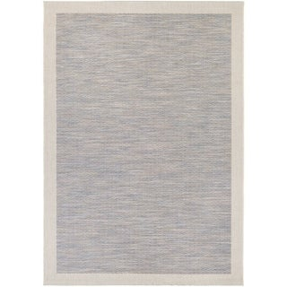 Couristan Tides Riverhead Blue/ Grey Area Rug (6'7 x 9'6)