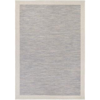 Couristan Tides Riverhead Blue/ Grey Area Rug (5'3 x 7'6)