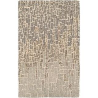 "Hand-Crafted Barlow Maze Tan Area Rug - 5'6"" x 8'"