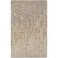 "Hand-Crafted Barlow Maze Tan Area Rug - 5'6"" x 8'"