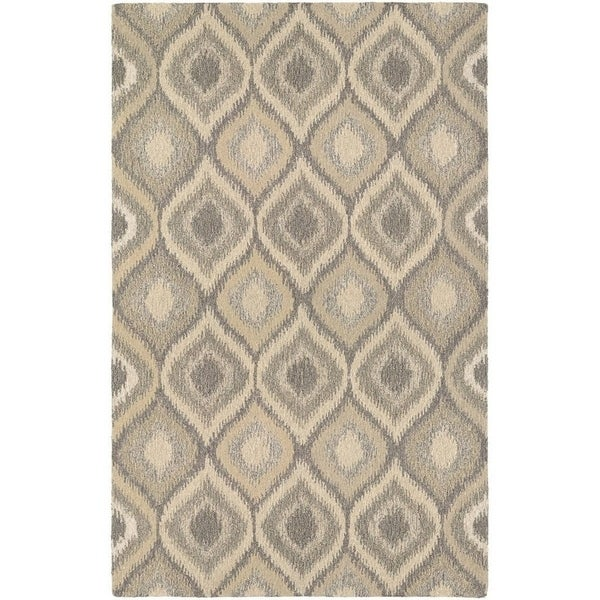 Couristan Super Indo-Natural Ridley/ Cream-Brown Area Rug - 5'6 x 8'