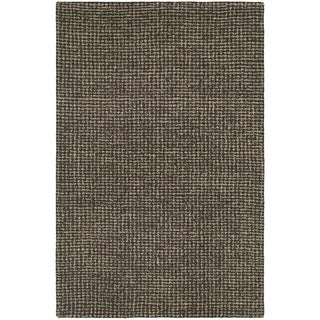 Couristan Super Indo-Natural Bogard/ Dark Brown Area Rug - 5'6 x 8'