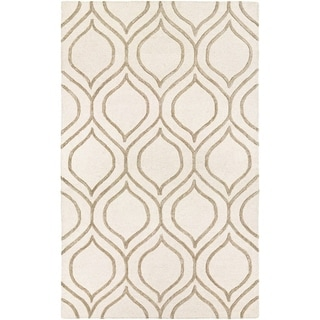 Couristan Super Indo Natural Alba Ivory/ Grey  Area Rug (5'6 x  8')