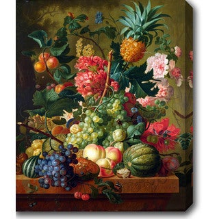 Fruits and Flowers' Oil on Canvas Art - Multi