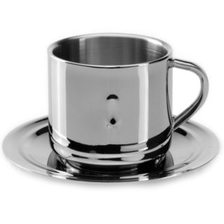 Berghoff Straight 3-ounce Coffee Cup and Saucer