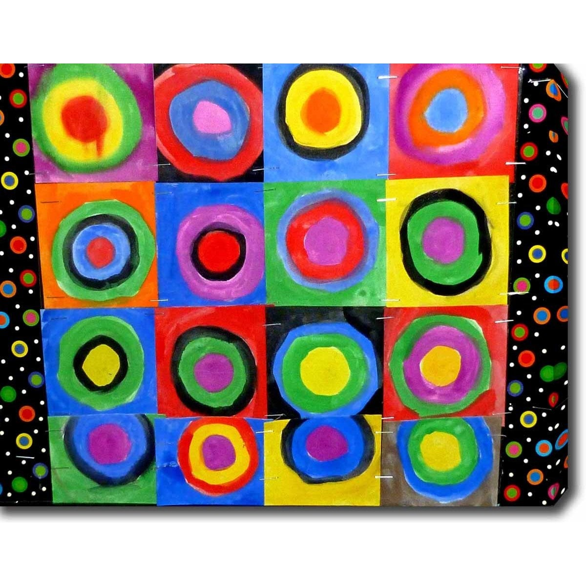 Wassily Kandinsky Concentric Circles Oil On Canvas Art