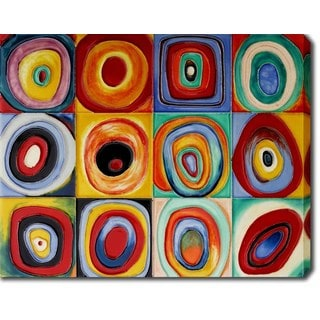 Wassily Kandinsky 'Color Study of Squares' Oil on Canvas Art