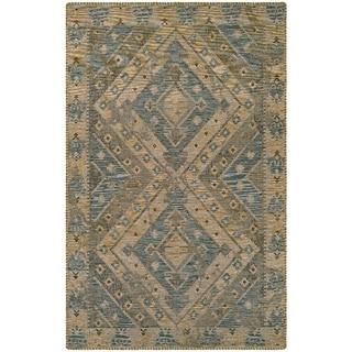 Couristan Mandolina Kitreli Grey/ Ivory Area Rug (6'6 x 9'6)