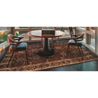 Couristan Mandolina Ispir Terracotta/ Ivory Area Rug (6'6 x 9'6)
