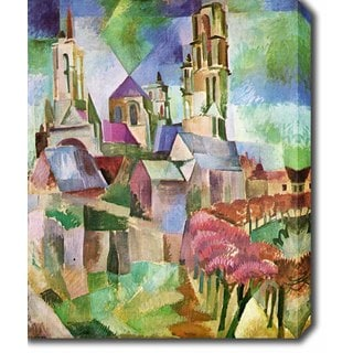 Robert Delaunay 'The Towers of Laon' Oil on Canvas Art