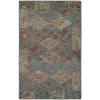 Couristan Mandolina Hinis Grey/ Ivory/ Terracotta Area Rug (5'3 x 7'6)