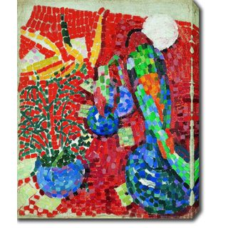 Robert Delaunay 'Still-life with a Parrot' Oil on Canvas Art