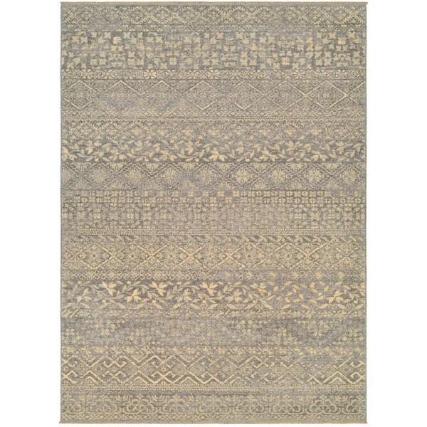 9 X 12 Nourison Nourmak Hand Knotted 100 Wool Persian: Couristan Elegance Ophelia Mauve/ Tan Area Rug (5'6 X 7'8