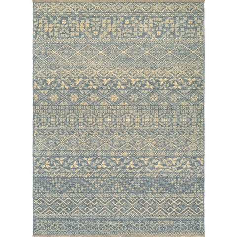 "Couristan Elegance Ophelia/Azure-Tan Area Rug - 6'6"" x 9'8"""