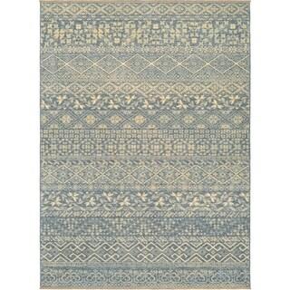Couristan Elegance Ophelia/Azure-Tan Area Rug - 6'6 x 9'8