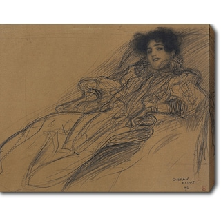 Gustav Klimt 'Young Woman in an Armchair' Oil on Canvas Art