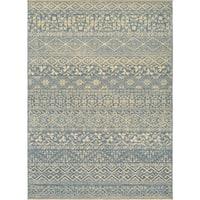 Couristan Elegance Ophelia/Azure-Tan Area Rug - 5'6 x 7'8