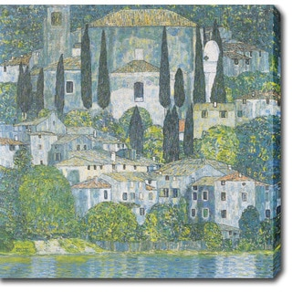 Gustav Klimt 'Church in Cossone' Oil on Canvas Art