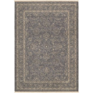 Couristan Elegance Aurelia/Dusty Blue-Beige Area Rug - 6'6 x 9'8