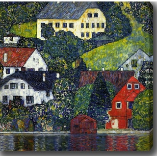 Gustav Klimt 'Houses At Unterach On The Attersee II' Oil on Canvas Art