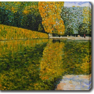Gustav Klimt 'Schonbrunn Park' Oil on Canvas Art