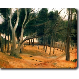 The Forest' Oil on Canvas Art