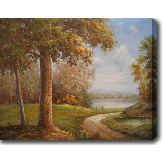 By the Lake' Oil on Canvas Art