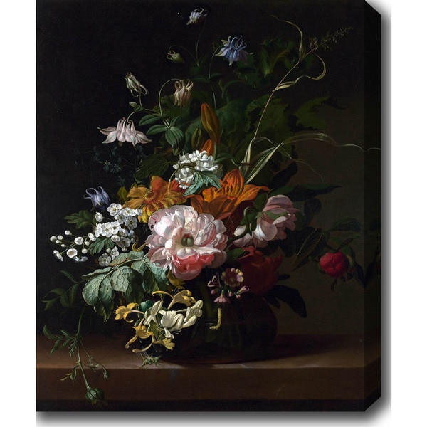Rachel Ruysch Flower Still Life I Oil On Canvas Art