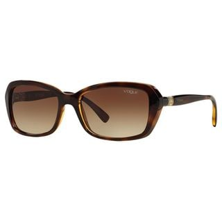 Vogue Women's VO2964SB Plastic Rectangle Sunglasses