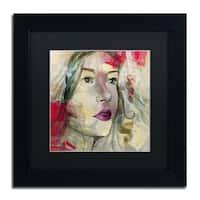 Andrea 'Ana Lucia' Black Matte, Black Wood Framed Wall Art