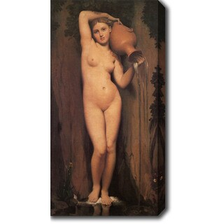 Jean Auguste Dominique Ingres 'The Spring' Oil on Canvas Art