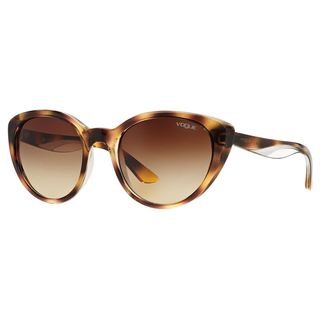 Vogue Women's VO2963S 191613 Brown Plastic Cat Eye Sunglasses