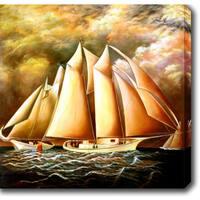 The Sailboats' Oil on Canvas Art - Multi